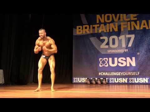 Brent Faulkner – Competitor No 27 – Class 1 - USN NABBA Novice Britain Final 2017