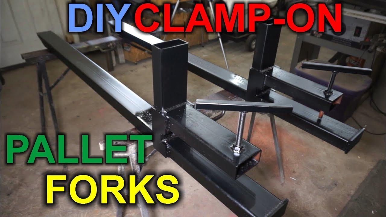 DIY Clamp-on Pallet Forks for Loader