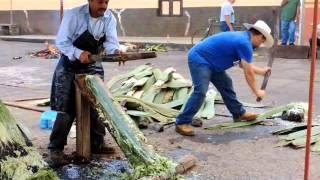 Tacátzcuaro, elaboración de Reatas de Lazar