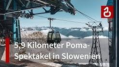 Seilbahn Bovec - Kanin - Poma-Ungetüm in Slowenien