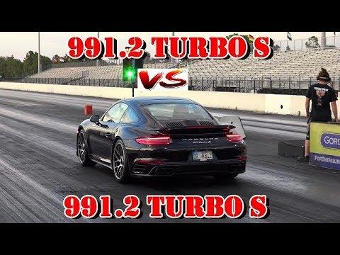 2018 991.2 TURBO S Modded vs stock 2018 Porsche Turbo S - 1/4 mile drag race - RoadTestTV