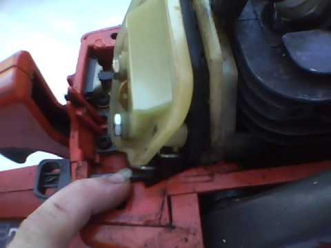 The Throttle Linkage On My Husqvarna 136 Chainsaw Youtube