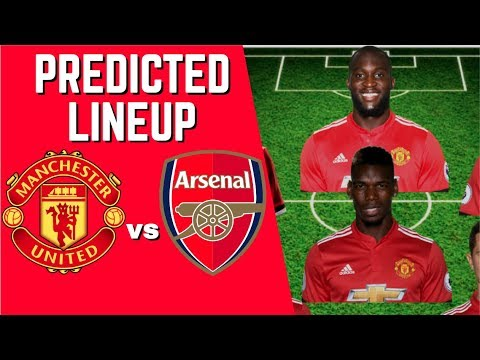 PREDICTED LINEUP - MANCHESTER UNITED VS ARSENAL - PREMIER LEAGUE 2017/18!
