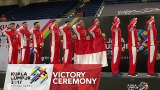 Badminton 🏸 Mens Team finals Victory Ceremony | 29th SEA Games 2017