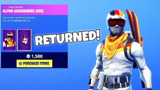'RARE' MOGUL MASTER ET ALPINE ACE SKINS RETURN Fortnite Fortnite