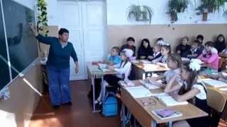 Урок з української літератури в 5-А класі. Вчитель О.Гузь