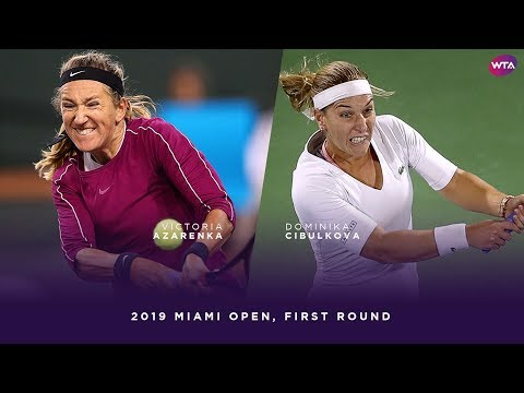 Victoria Azarenka vs. Dominika Cibulkova | 2019 Miami Open First Round | WTA Highlights