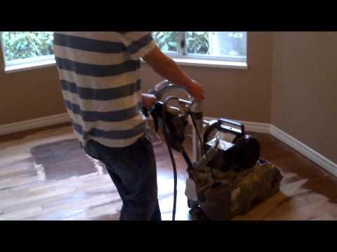 All Hardwood Floor Ltd Vancouver Eddy Running American Twelve hardwood floor sanding machine