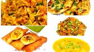 5 Breakfast recipes/ Indian food recipes/ Bread rolls, Naan, Kofta, Bhindi masala, Tawa pulao