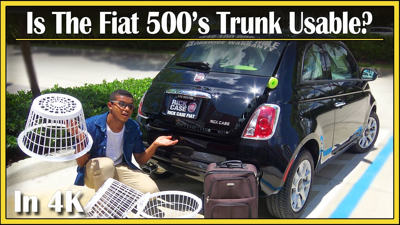 2017 2018 fiat 500 cargo space detailed review in 4k how much stuff can fit in that. Black Bedroom Furniture Sets. Home Design Ideas