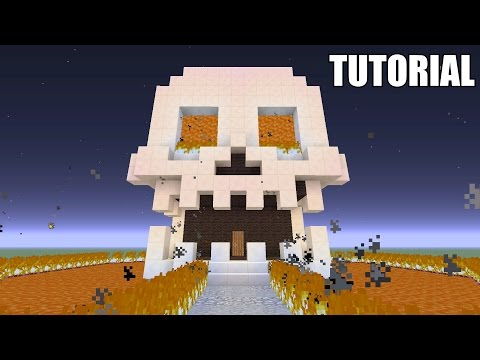 Minecraft Tutorial: How To Make A SKULL!! Survival House (ASH#42)