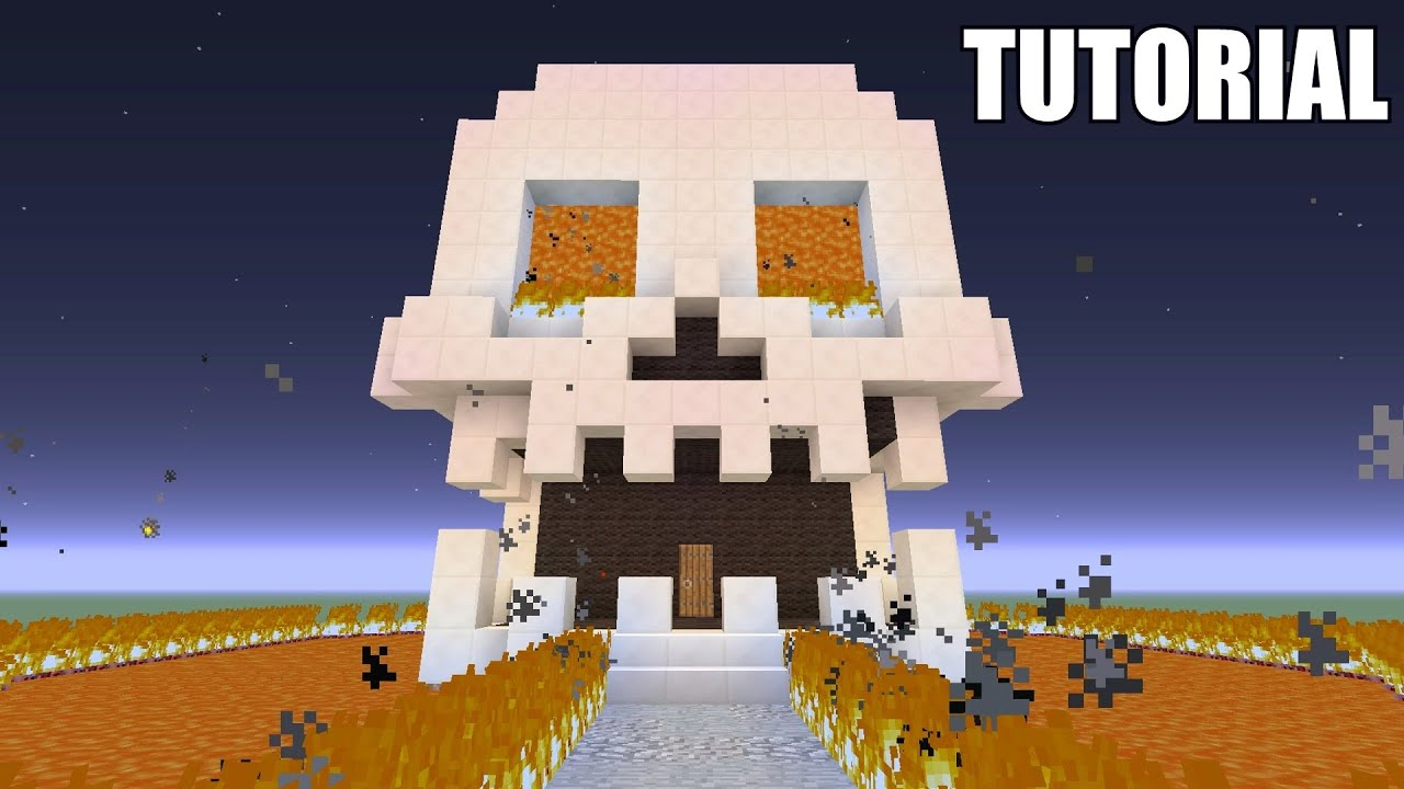 Minecraft Tutorial: How To Make A SKULL!! Survival House ...