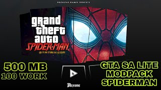 Downlod GTA SA lite MODPACK Spiderman 100 % work all devices