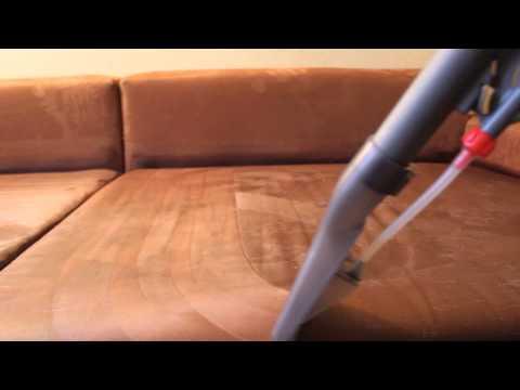 Reinigung Einer Microfaser Couch Durch Sprühextraktion Youtube