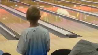 Nolan Blessing 300 Game! Only 10 Years Old! USBC Youth Bowling League.