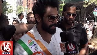 Rana Daggubati And Tamannah Participates in Independence Day Parade | V6 USA NRI News