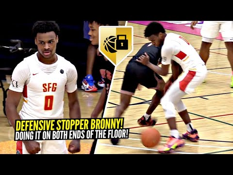 Download Bronny James Puts The CLAMPS ON & TURNS UP On BOTH ENDS Of The Floor at EYBL!! SFG vs Indy Heat!
