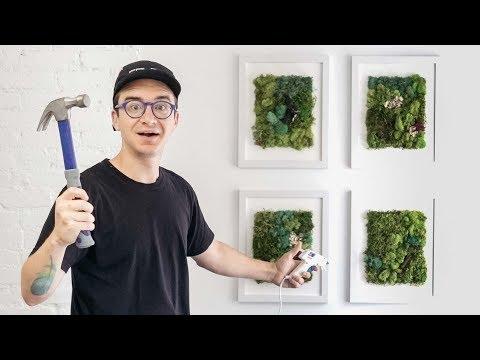 DIY MOSS ART | NYC VLOG