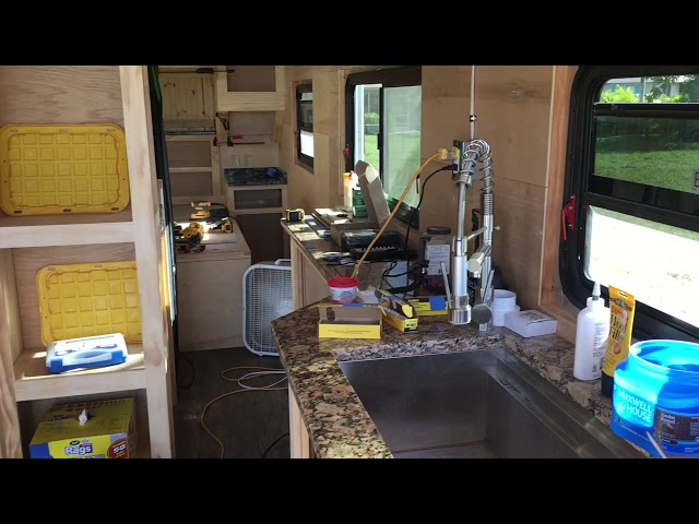 RV Trailer Build #101 - Started Finish/Trim Work on Cabinets Over and Around the Bed
