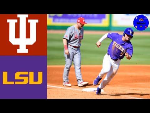 Indiana Vs #12 LSU (DH Game 1) | 2020 College Baseball Highlights