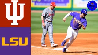 Indiana vs #12 LSU (DH Game 1) | 2020 College Baseball Highlights
