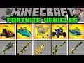 Minecraft FORTNITE VEHICLES MOD l SHOPPING CART, JET PACK, CARS, ATV & MORE! l Modded Mini-Game