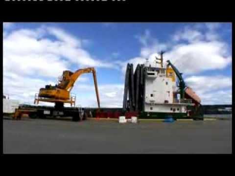 SENNEBOGEN - Port Handling: 870 Special Material Handler In Cargo Handling, Port Sundsvall Sweden