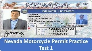 Nevada Motorcycle Permit Practice Test 1