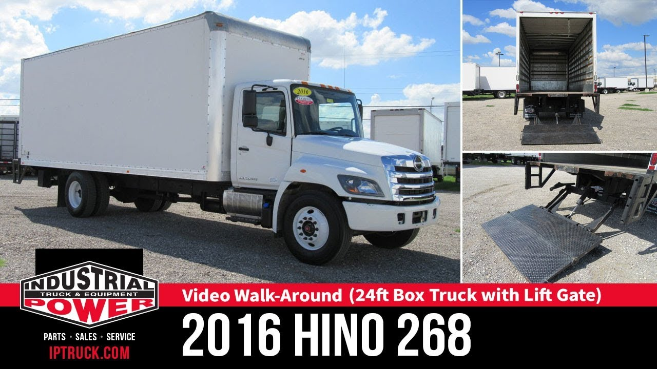 2016 HINO 268 (24ft Box Truck with Lift gate) | Non-CDL Truck | IP Truck