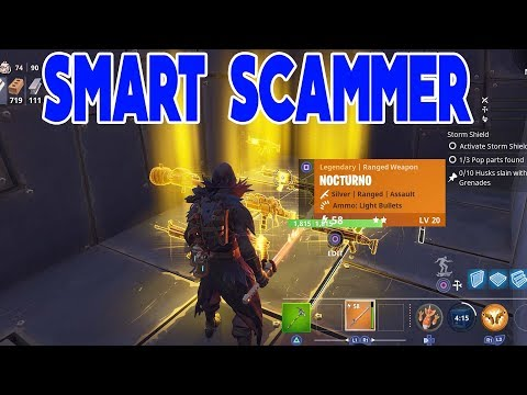 Smart Scammer Scammed Himself (Scammer Gets Scammed) Fortnite Save The World
