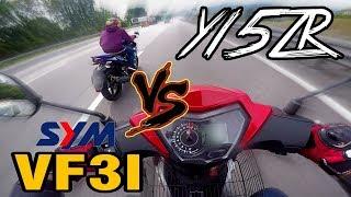#366 Y15ZR VS SYM VF3I | MOTOvlogge...