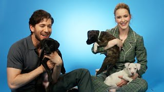 Celebs Play With Puppies