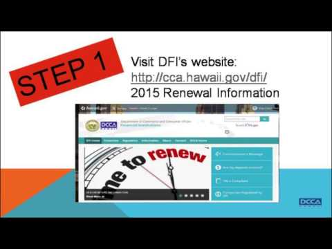 Hawaii Money Transmitter Instructions for 2015 Renewal