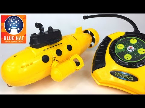 UNBOXING BLUE HAT WIRELESS RC UNDERWATER EXPLORER RADIO CONTROLLED SUBMARINE & DIVER ADVENTURE