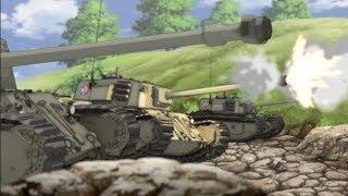 BEST TANK FIRE SCENE 6(Girls und Panzer Das Finale EP1 最終章ガールズ&パンツァー)