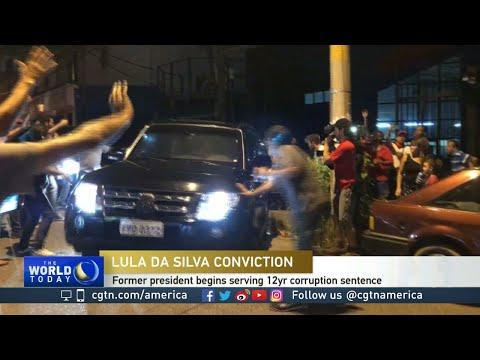 Former Brazilian President Luiz Inacio Lula da Silva in police custody
