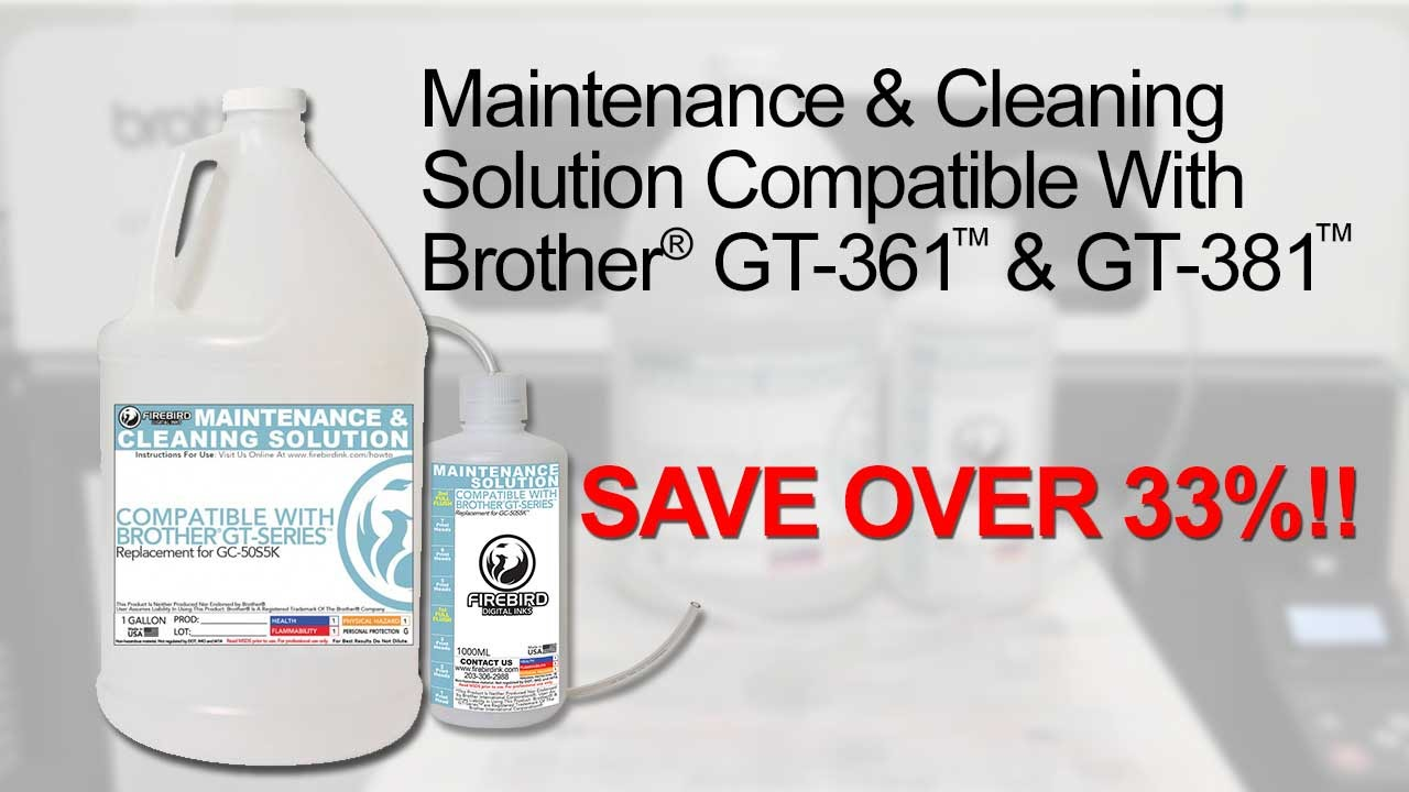 Maintenance & Cleaning Solution Compatible With Brother® GT-361™ & GT-381™