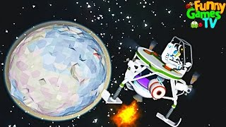 ЛЕТИМ НА ЛУНУ Мультик про машинки космос и крафт веселая игра Astroneer