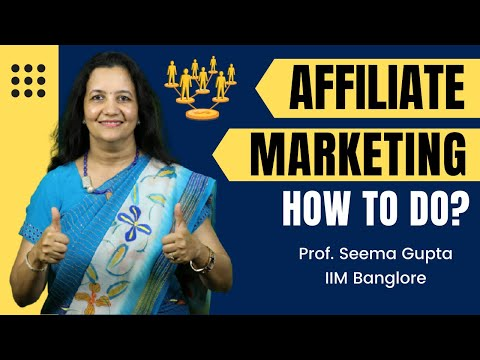 How to Do Affiliate Marketing in India | Earn Money online | MUST WATCH for Beginners | Prof Seema thumbnail