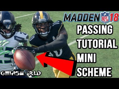 Madden 18 Tips: How To Pass The Ball Effectively In Madden 18 Gameplay! LIVE Tutorial Mini Scheme