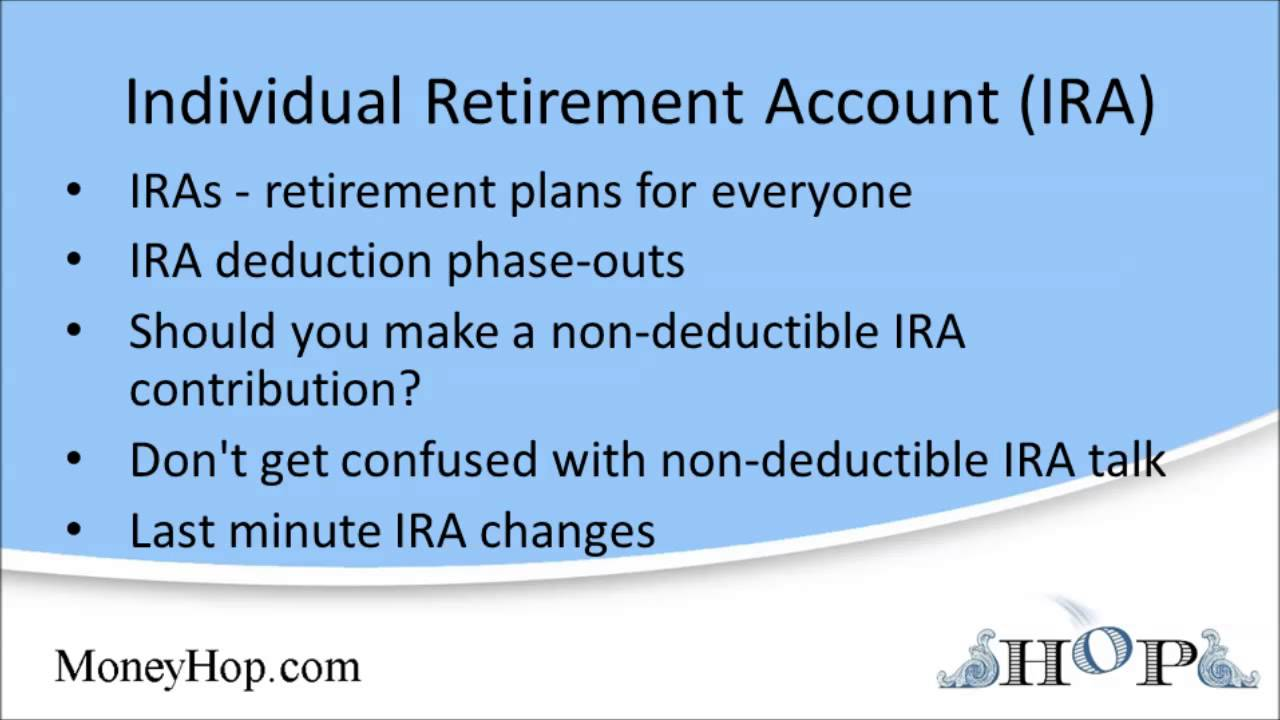 individual retirement account ira youtube