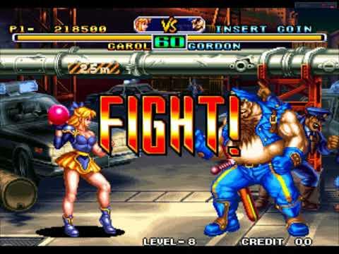 Savage Reign - (Arcade) - CAROL - 1 Crédito - Level 8 até o final