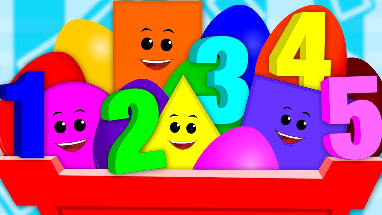 Image result for clipart numbers kids shapes