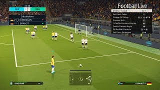PES 2018 | GERMANY vs BRAZIL | FIFA World Cup 2018 Russia | 1/8 Final | Gameplay PC