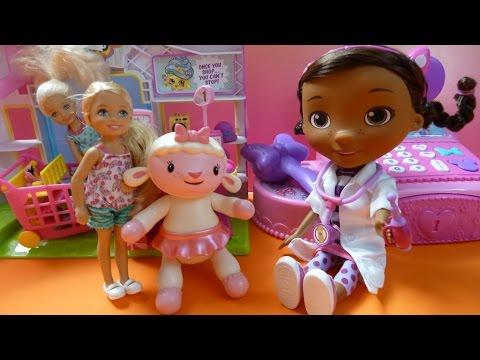 """Bác Sĩ """" Thú Nhồi Bông"""" Doc McStuffins Khám Bệnh Chú Cừu Lambie (Bí Đỏ) Doc McStuffins Doctor Set"""