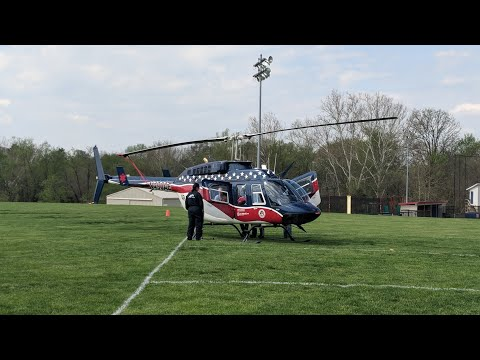 Helecopter Take Off at Bedford North Lawrence High School