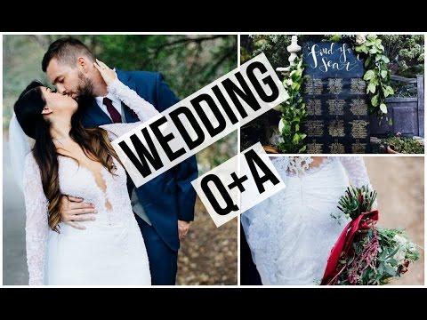 My Wedding Day Q&A: Trying on my wedding dress, Honeymoon, Budgeting!