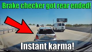 Semi Trucks and Cars Brake Checked - ROAD RAGE or INSURANCE SCAM fail? | Instant Karma /Justice 2019