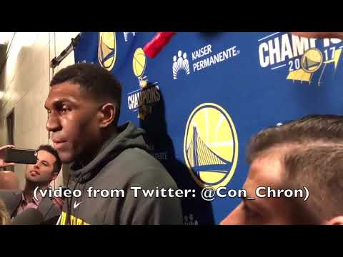 """KEVON LOONEY postgame GSW-HOU on the charge by Chris Paul: """"I usually don"""