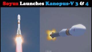 Soyuz-2.1a Rocket Launches Kanopus-V 3 & 4 + 9 Small Satellites